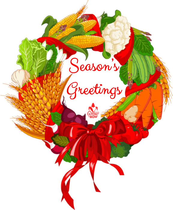Donation in lieu of holiday cards americas grow a row or seasons greetings wreath m4hsunfo